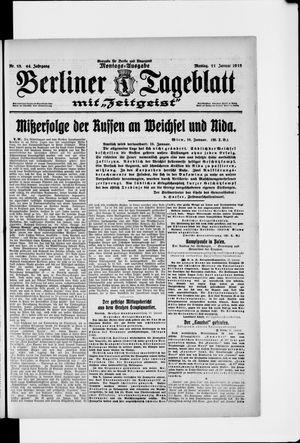 Berliner Tageblatt und Handels-Zeitung vom 11.01.1915