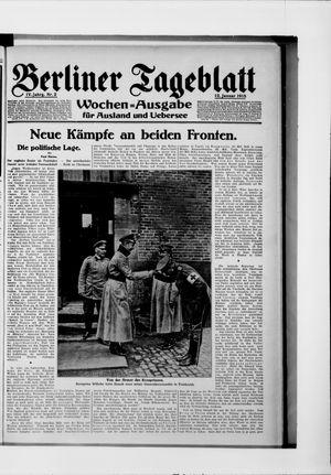 Berliner Tageblatt und Handels-Zeitung vom 12.01.1915
