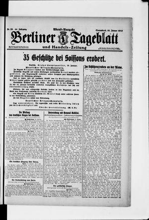 Berliner Tageblatt und Handels-Zeitung vom 16.01.1915