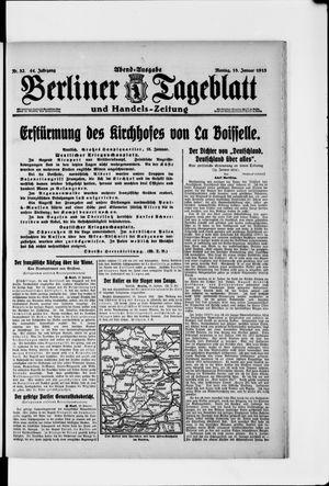 Berliner Tageblatt und Handels-Zeitung vom 18.01.1915