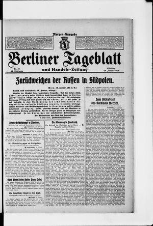 Berliner Tageblatt und Handels-Zeitung vom 19.01.1915
