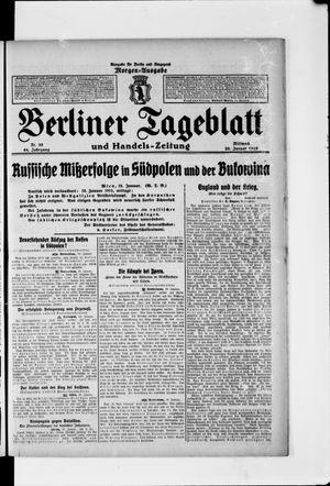Berliner Tageblatt und Handels-Zeitung vom 20.01.1915