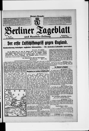 Berliner Tageblatt und Handels-Zeitung vom 21.01.1915