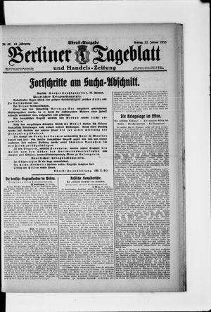 Berliner Tageblatt und Handels-Zeitung vom 22.01.1915