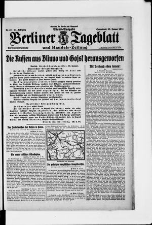 Berliner Tageblatt und Handels-Zeitung on Jan 23, 1915