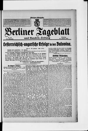Berliner Tageblatt und Handels-Zeitung vom 24.01.1915