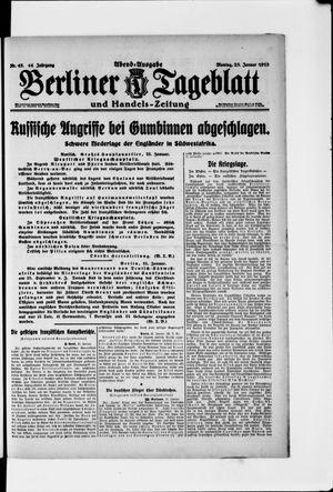 Berliner Tageblatt und Handels-Zeitung vom 25.01.1915