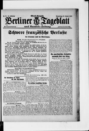 Berliner Tageblatt und Handels-Zeitung vom 28.01.1915