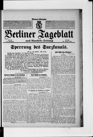 Berliner Tageblatt und Handels-Zeitung vom 29.01.1915