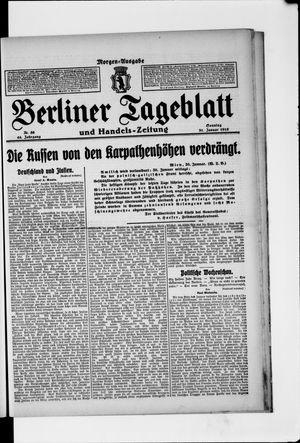 Berliner Tageblatt und Handels-Zeitung vom 31.01.1915