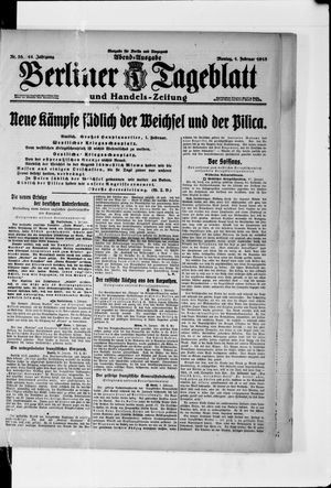 Berliner Tageblatt und Handels-Zeitung vom 01.02.1915