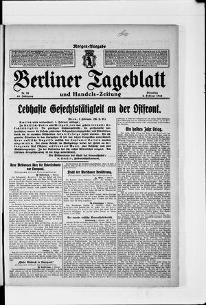 Berliner Tageblatt und Handels-Zeitung vom 02.02.1915