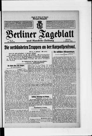 Berliner Tageblatt und Handels-Zeitung vom 03.02.1915