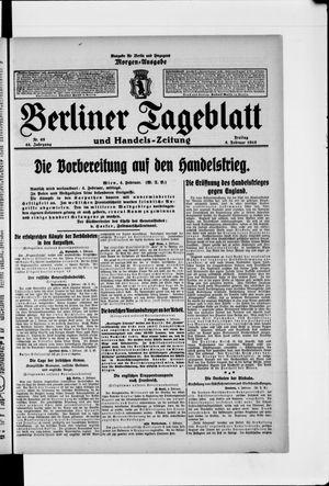 Berliner Tageblatt und Handels-Zeitung vom 05.02.1915