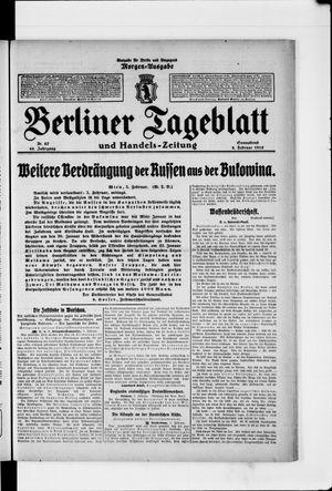 Berliner Tageblatt und Handels-Zeitung vom 06.02.1915