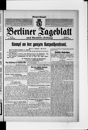 Berliner Tageblatt und Handels-Zeitung vom 07.02.1915