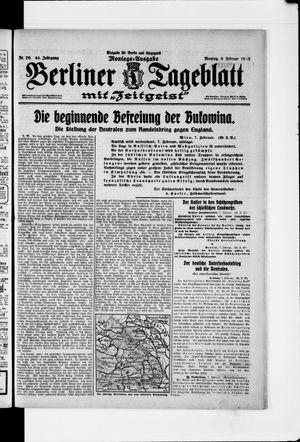 Berliner Tageblatt und Handels-Zeitung vom 08.02.1915