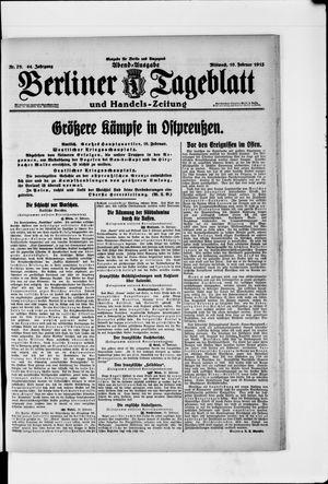 Berliner Tageblatt und Handels-Zeitung vom 10.02.1915