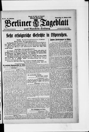 Berliner Tageblatt und Handels-Zeitung vom 11.02.1915