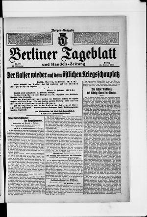 Berliner Tageblatt und Handels-Zeitung vom 12.02.1915