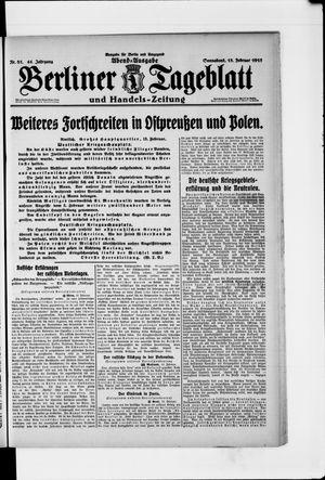 Berliner Tageblatt und Handels-Zeitung vom 13.02.1915