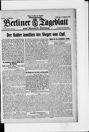 Berliner Tageblatt und Handels-Zeitung vom 16.02.1915