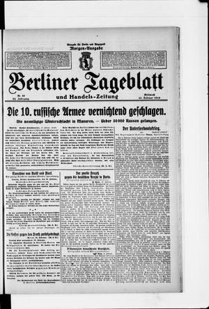 Berliner Tageblatt und Handels-Zeitung vom 17.02.1915
