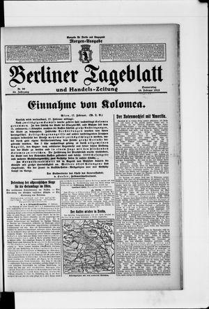 Berliner Tageblatt und Handels-Zeitung vom 18.02.1915