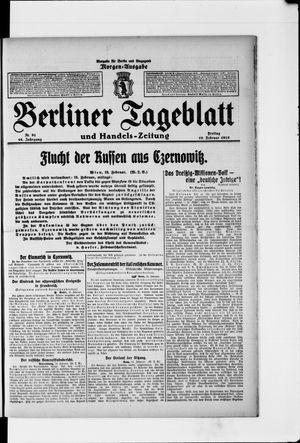 Berliner Tageblatt und Handels-Zeitung vom 19.02.1915