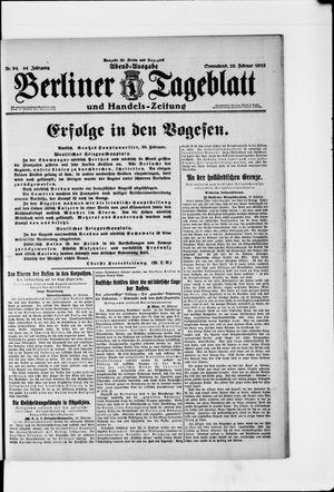 Berliner Tageblatt und Handels-Zeitung vom 20.02.1915