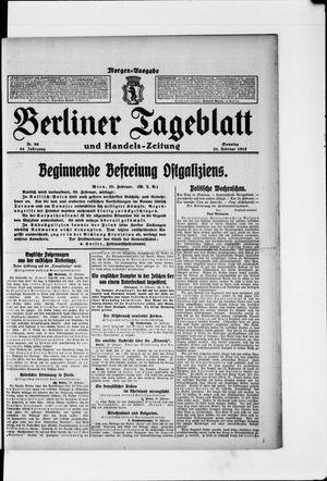 Berliner Tageblatt und Handels-Zeitung vom 21.02.1915