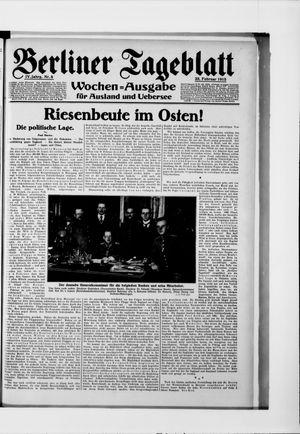 Berliner Tageblatt und Handels-Zeitung vom 23.02.1915