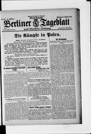 Berliner Tageblatt und Handels-Zeitung vom 24.02.1915