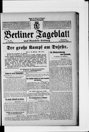 Berliner Tageblatt und Handels-Zeitung vom 25.02.1915