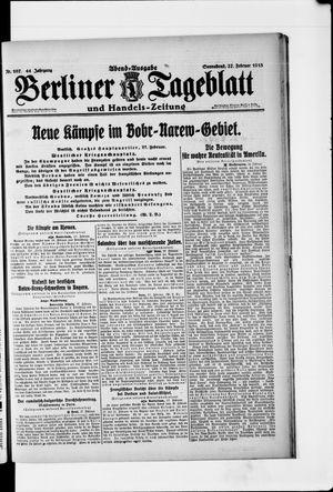 Berliner Tageblatt und Handels-Zeitung vom 27.02.1915