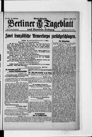 Berliner Tageblatt und Handels-Zeitung on Mar 1, 1915