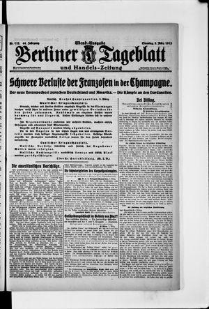 Berliner Tageblatt und Handels-Zeitung vom 02.03.1915