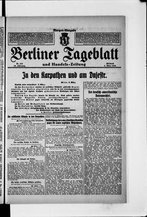 Berliner Tageblatt und Handels-Zeitung vom 03.03.1915