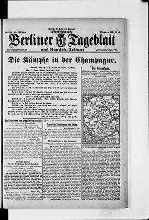 Berliner Tageblatt und Handels-Zeitung vom 08.03.1915