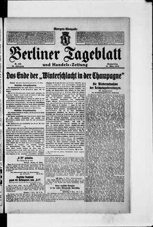 Berliner Tageblatt und Handels-Zeitung on Mar 11, 1915