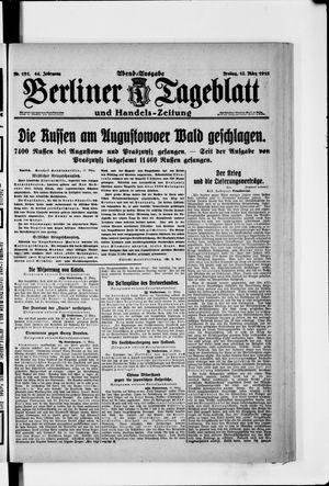 Berliner Tageblatt und Handels-Zeitung vom 12.03.1915