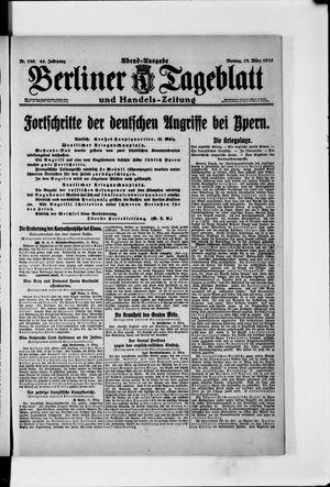 Berliner Tageblatt und Handels-Zeitung vom 15.03.1915