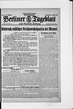 Berliner Tageblatt und Handels-Zeitung vom 18.03.1915