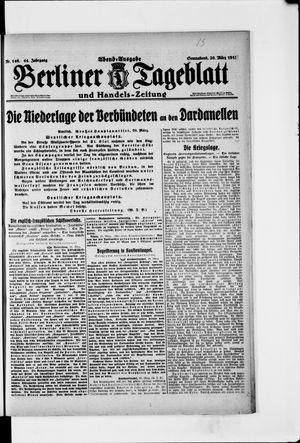 Berliner Tageblatt und Handels-Zeitung vom 20.03.1915