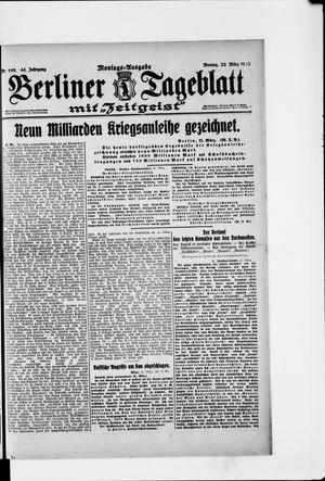 Berliner Tageblatt und Handels-Zeitung on Mar 22, 1915