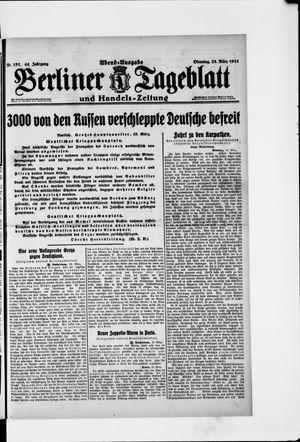 Berliner Tageblatt und Handels-Zeitung vom 23.03.1915