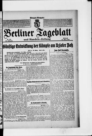 Berliner Tageblatt und Handels-Zeitung vom 24.03.1915