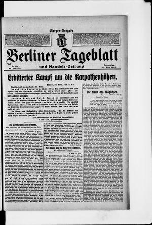 Berliner Tageblatt und Handels-Zeitung vom 25.03.1915