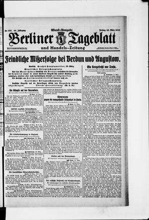 Berliner Tageblatt und Handels-Zeitung vom 26.03.1915