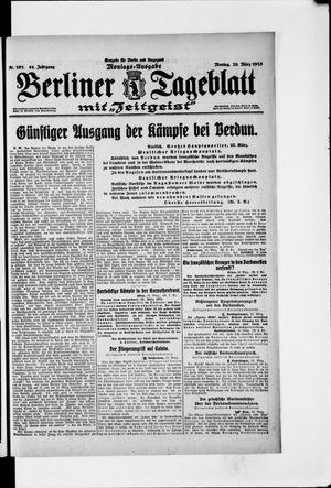 Berliner Tageblatt und Handels-Zeitung vom 29.03.1915